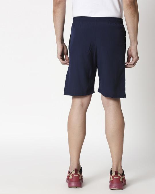 Shop Alstyle   Navy Taffeta Shorts-Full