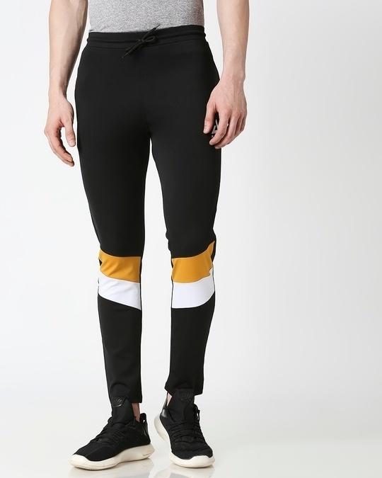 Shop Men Black Track Pant-Back