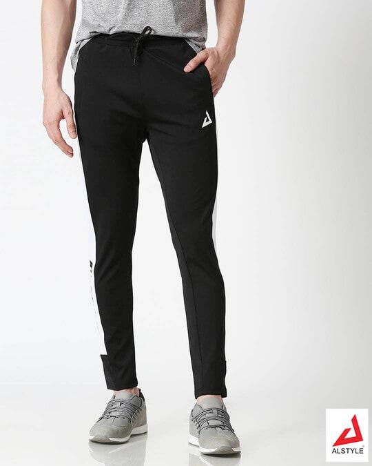 Shop ALSTYLE Men Black Track Pant-Front