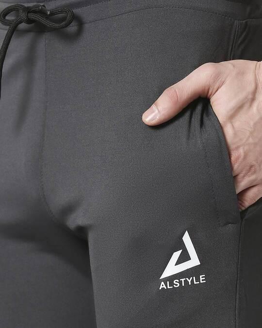 Shop ALSTYLE Men Grey Track Pant
