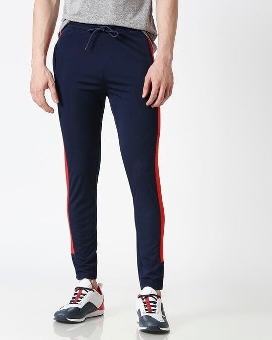 Shop ALSTYLE Men Navy Track Pant-Back
