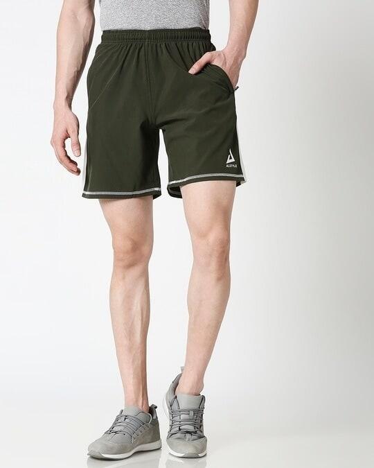 Shop ALSTYLE Men Olive Shorts-Back