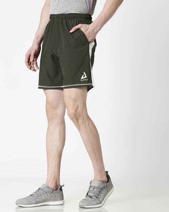 Shop ALSTYLE Men Olive Shorts-Design