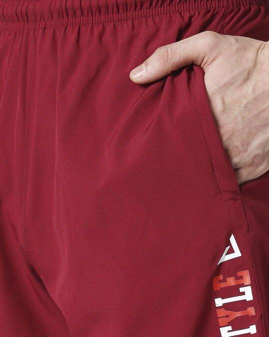 Shop ALSTYLE Men Wine Shorts