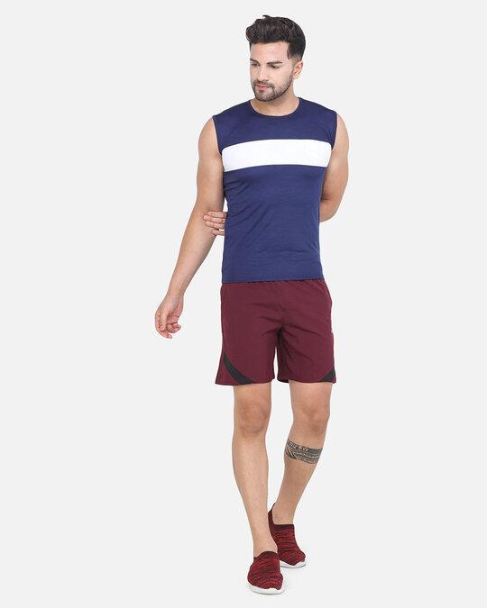 Shop Solid Men Maroon Basic Shorts