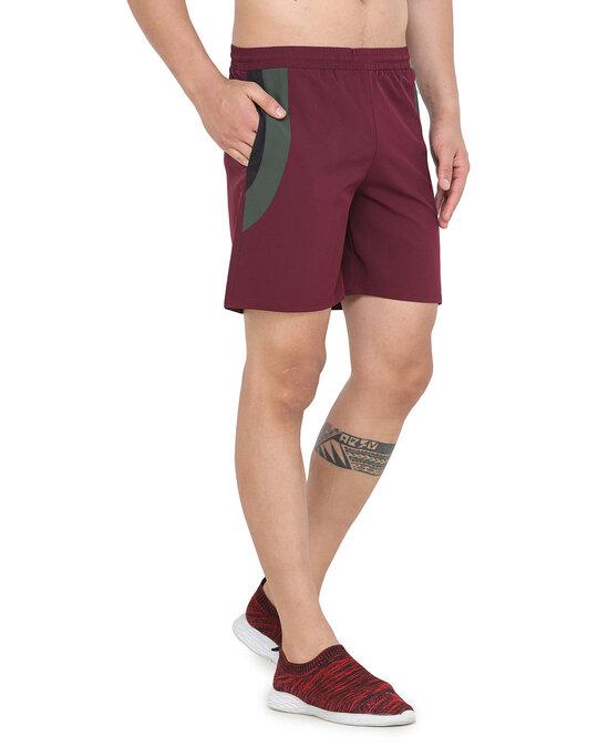 Shop Solid Men Maroon Basic Shorts-Design