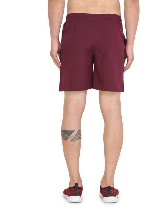 Shop Solid Men Maroon Basic Shorts-Full