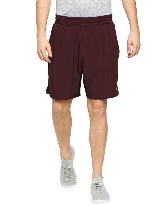 Shop Solid Men Wine Regular Shorts-Front
