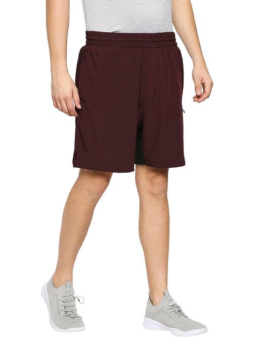Shop Solid Men Wine Regular Shorts-Design
