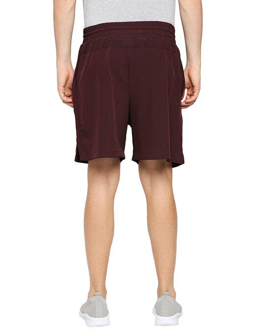 Shop Solid Men Wine Regular Shorts-Full