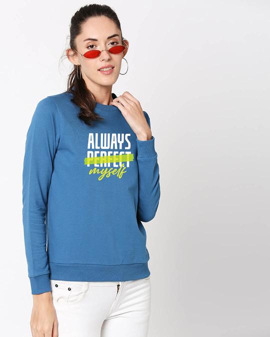 Shop Always Myself Fleece Sweater AW19 Digital Teal -Back
