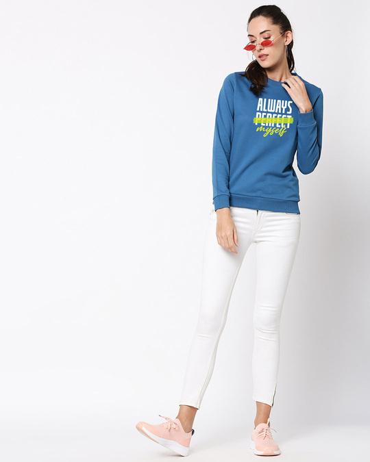 Shop Always Myself Fleece Sweater AW19 Digital Teal -Full