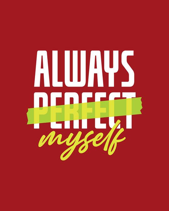 Shop Always Myself Round Neck 3/4 Sleeve T-Shirts Bold Red
