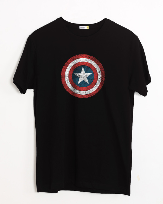 Shop America Shield Half Sleeve T-Shirt (AVL)-Front