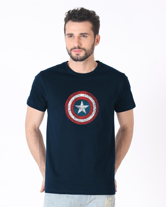 Shop America Shield Half Sleeve T-Shirt (AVL)-Back