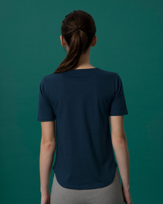 Shop Ami Amar Moto Basic Round Hem T-Shirt-Back