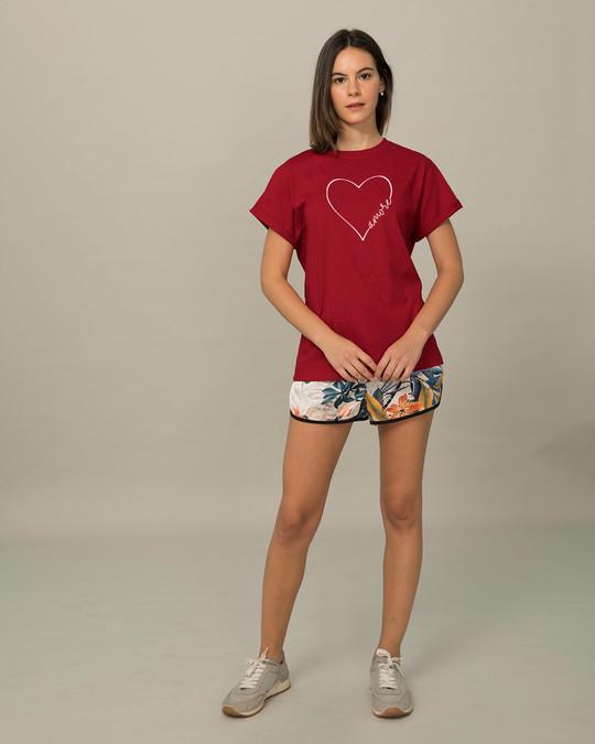 Shop Amore Heart Boyfriend T-Shirt-Full