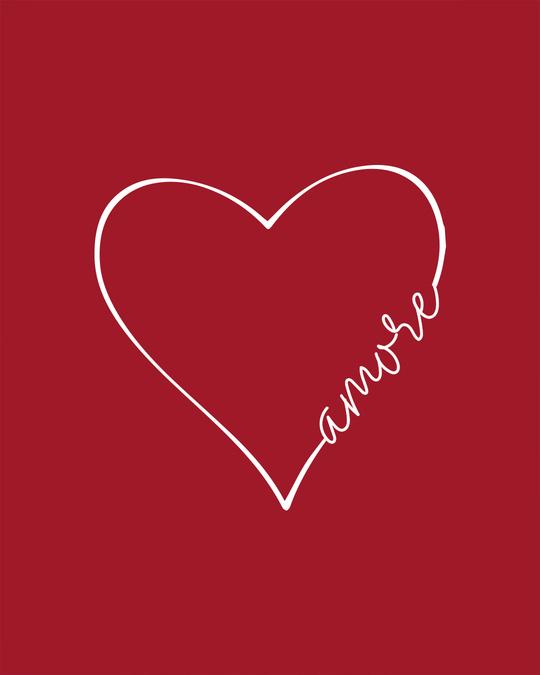Shop Amore Heart Boyfriend T-Shirt
