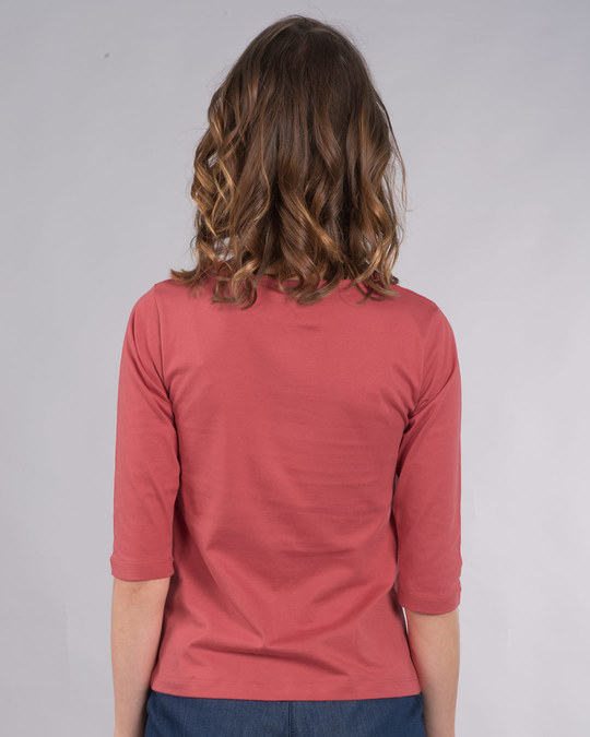 Shop Amore Heart Round Neck 3/4th Sleeve T-Shirt-Back