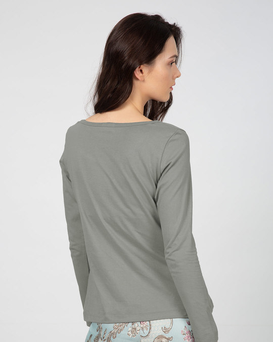 Shop Amore Heart Scoop Neck Full Sleeve T-Shirt-Back