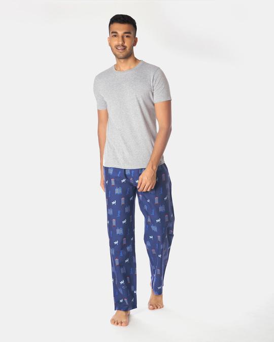 Shop Smugglerz Amsterdam Pyjamas Navy-Full