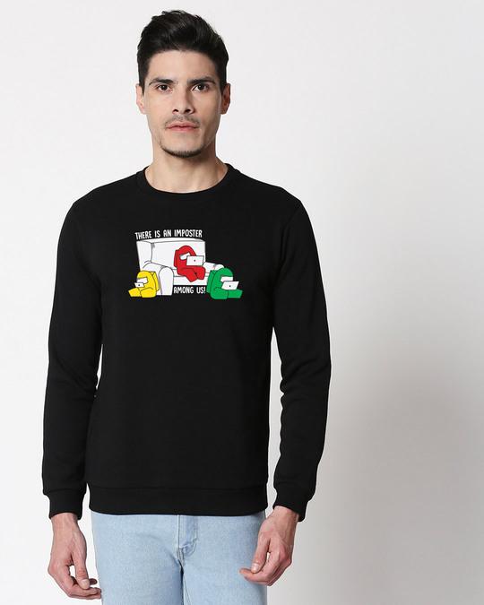 Shop An Imposter Fleece Sweater Black-Front