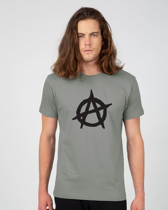 Shop Anarchy Logo Half Sleeve T-Shirt-Back