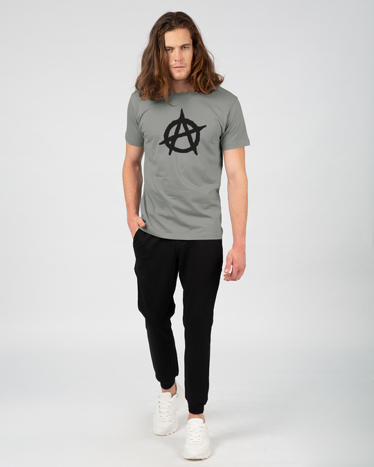 Shop Anarchy Logo Half Sleeve T-Shirt-Full