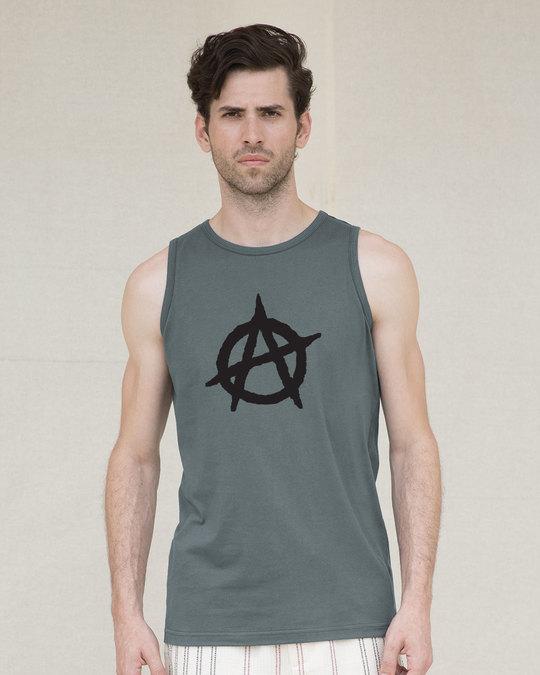 Shop Anarchy Logo Vest-Front