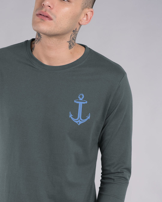 Shop Anchor Badge Full Sleeve T-Shirt-Front