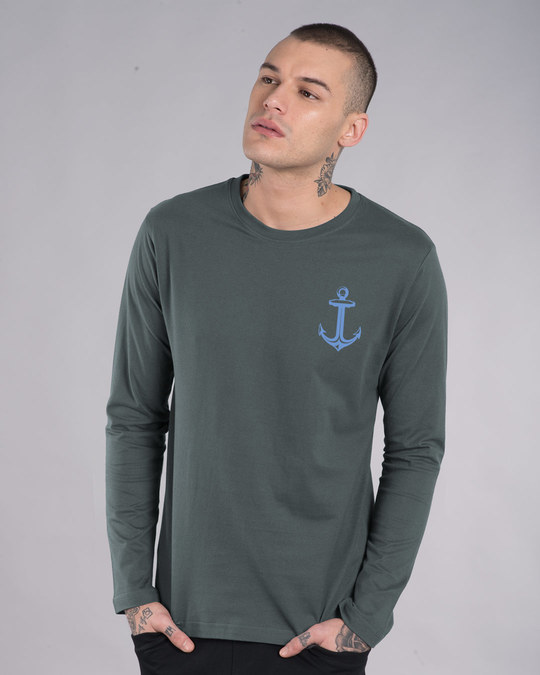 Shop Anchor Badge Full Sleeve T-Shirt-Back