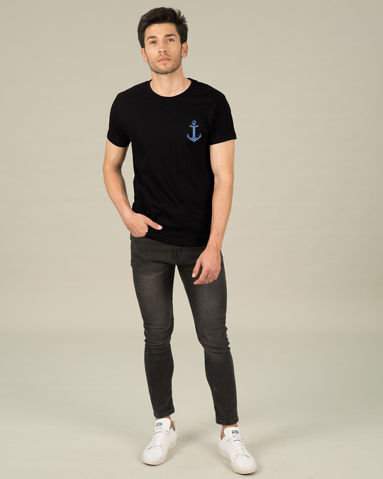 Shop Anchor Badge Half Sleeve T-Shirt-Full