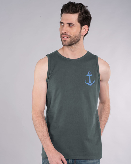 Shop Anchor Badge Vest-Back