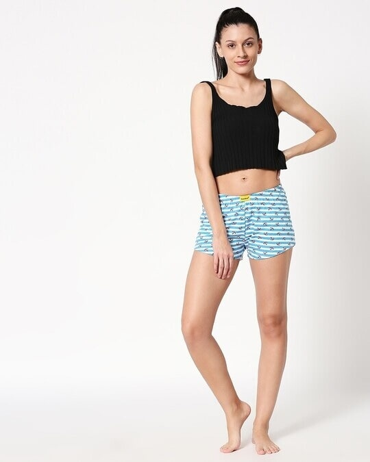 Shop Anchored White Knitted Boxers