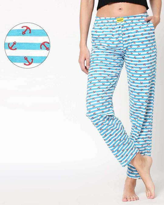 Shop Anchored White Knitted Pyjamas-Front