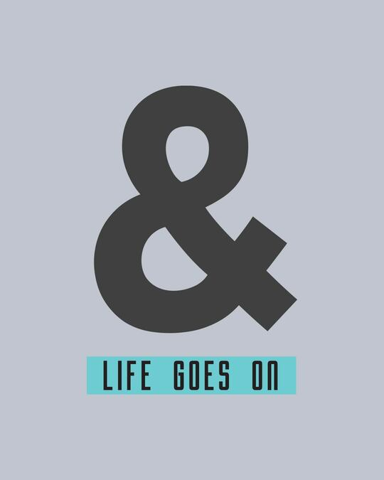 Shop And Life Goes On Half Sleeve T-Shirt-Full