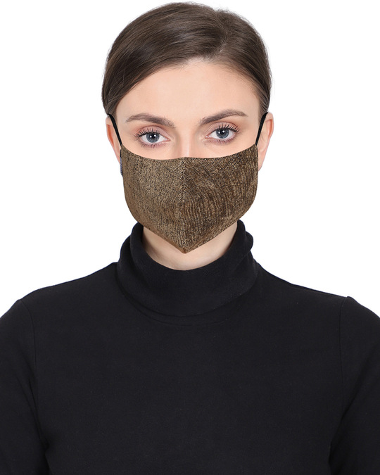 Shop 3 Ply Multicolor Solid Woolen Fabric Fashion Mask Pack Of 3-Full