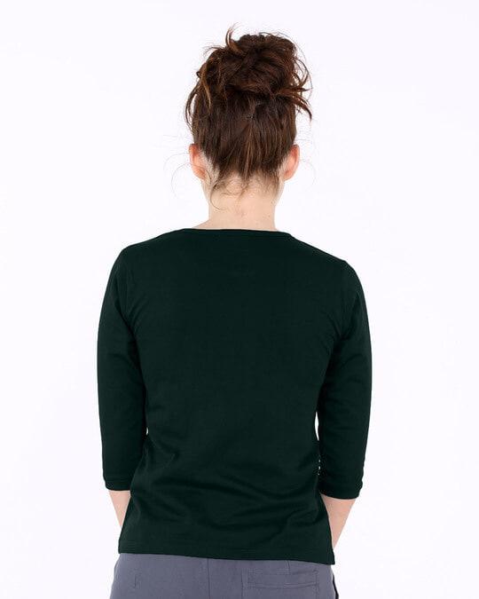 Shop Angrezi Round Neck 3/4th Sleeve T-Shirt-Full