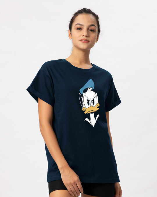 Shop Angry Donald Boyfriend T-Shirt (DL)-Back