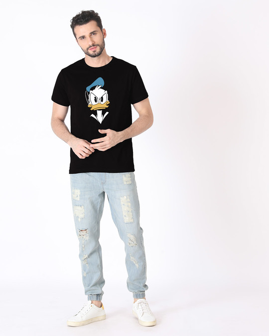 Shop Angry Donald Half Sleeve T-Shirt (DL)