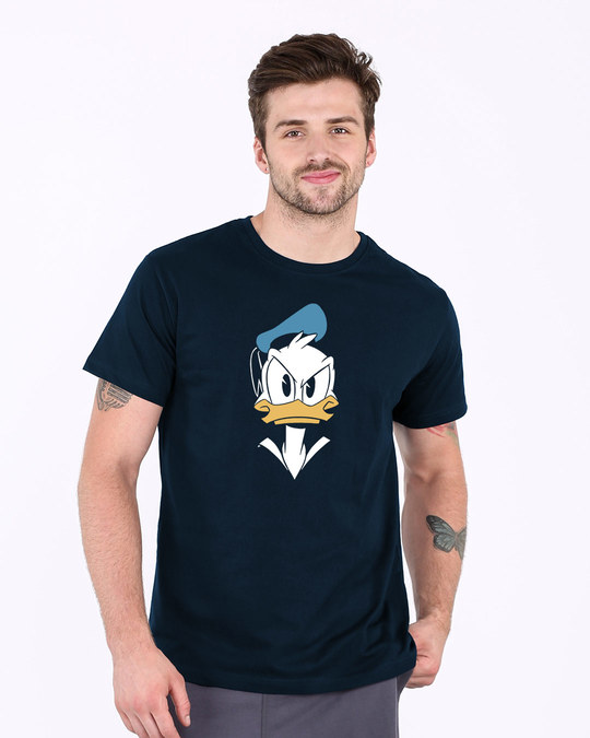 Shop Angry Donald Half Sleeve T-Shirt (DL)-Back