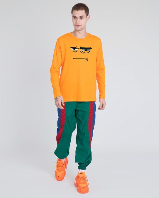 Shop Angry Zip Full Sleeve T-Shirt-Full