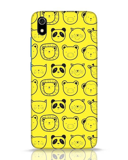 Shop Animal Doodle Xiaomi Redmi 7A Mobile Cover-Front