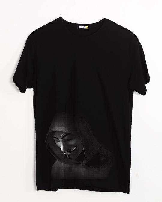 Shop Anonymous Hood Half Sleeve T-Shirt-Front