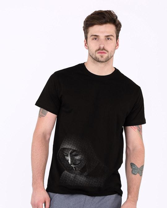 Shop Anonymous Hood Half Sleeve T-Shirt-Back