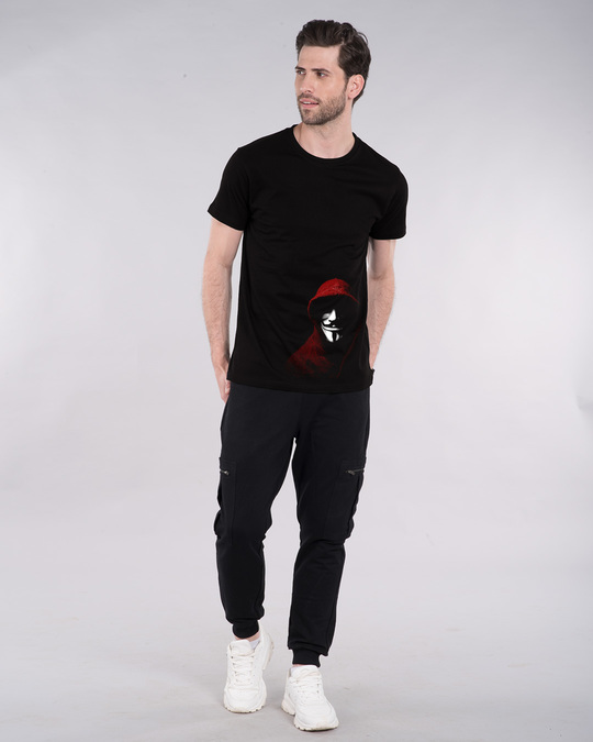 Shop Anonymous Mask Half Sleeve T-Shirt-Full