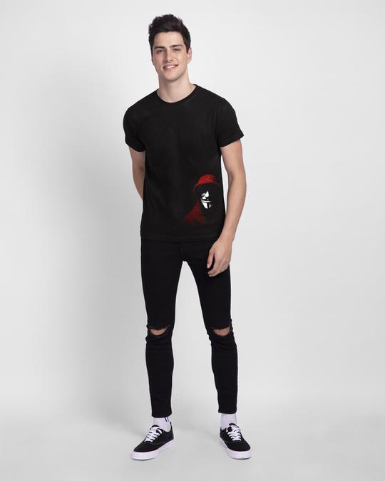 Shop Anonymous Mask Half Sleeve T-Shirt-Full