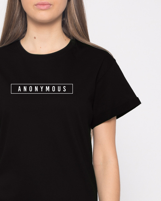 Shop Anonymous Minimal Boyfriend T-Shirt-Front