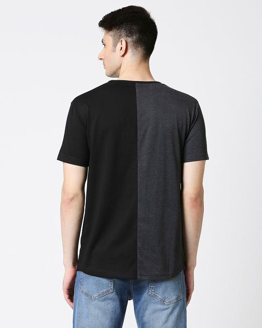 Shop Anthra Melange Half & Half T-shirt-Full