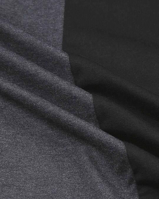 Shop Anthra Melange Half & Half T-shirt